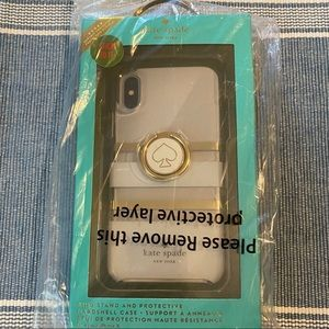 Kate Spade iPhone X / iPhone XS Case with ring